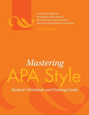 Mastering APA Style By American Psychological Association (COR)